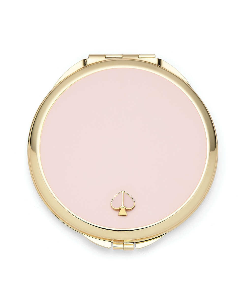 pink mirror compact