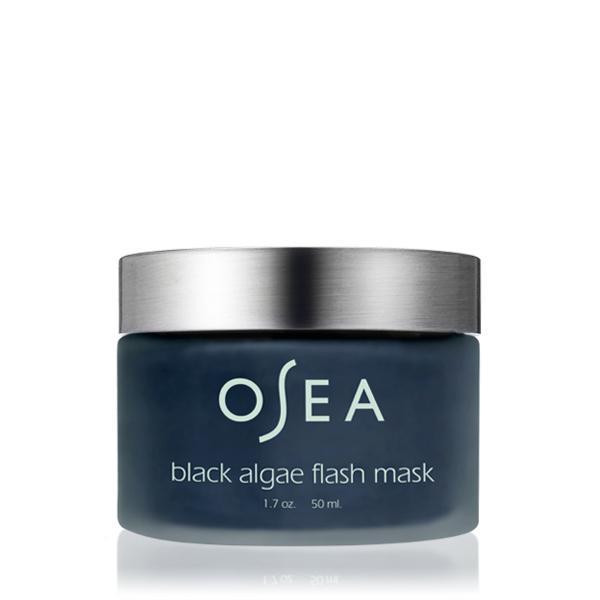 jar of black algae mask