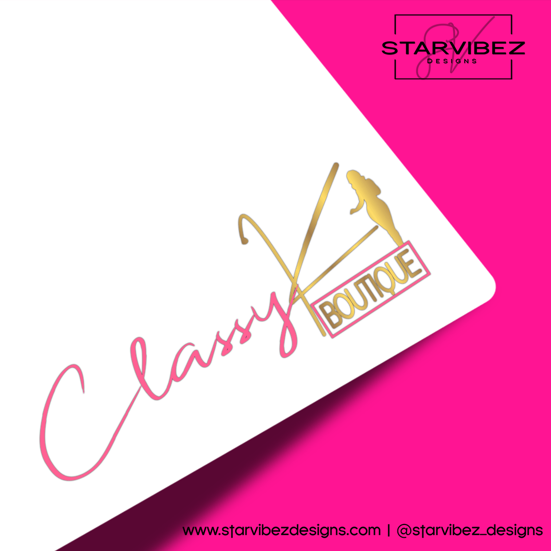 ClassyK Boutique Logo Mock Up White