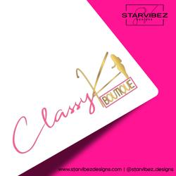 ClassyK Boutique Logo Mock Up White