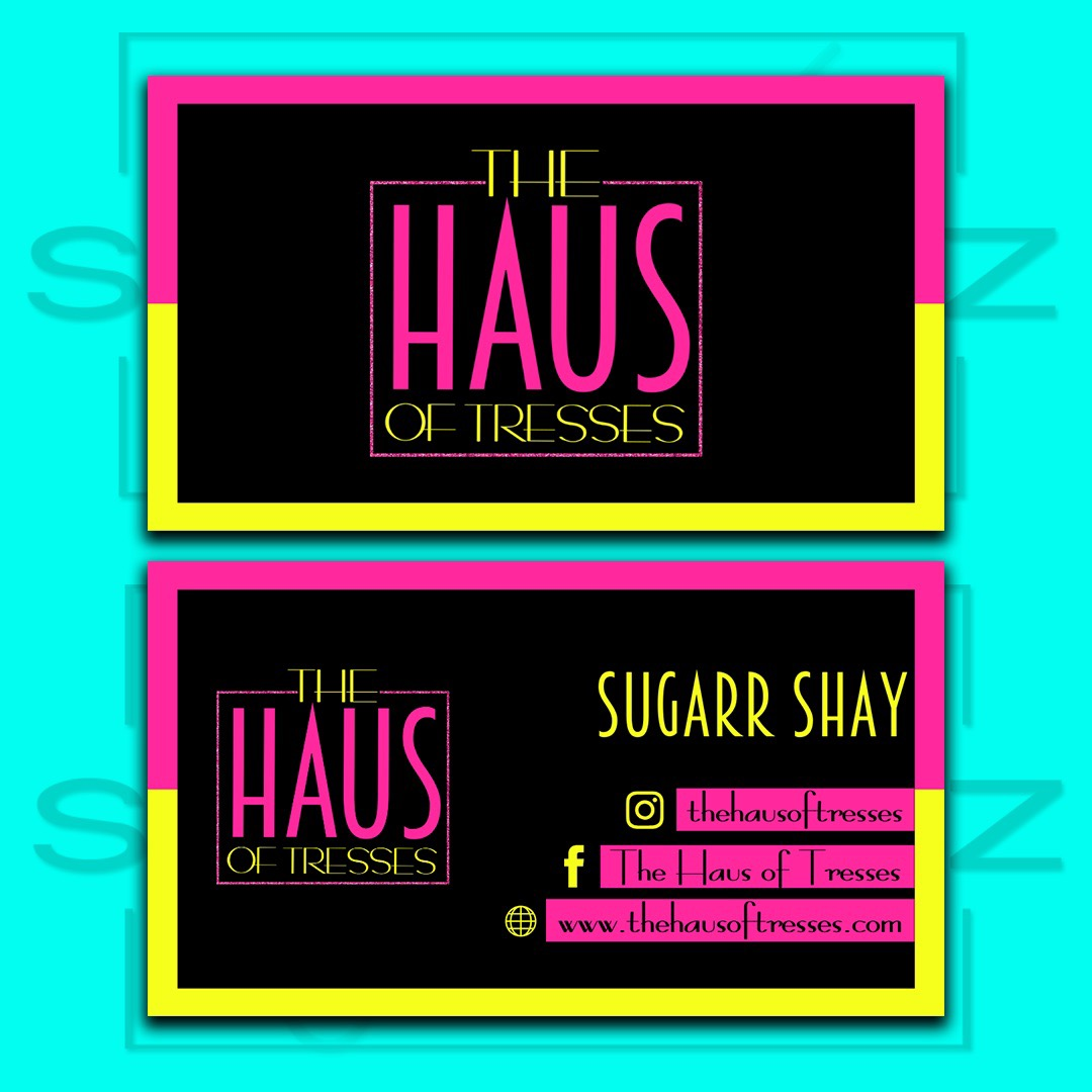 the haus of tresses business card