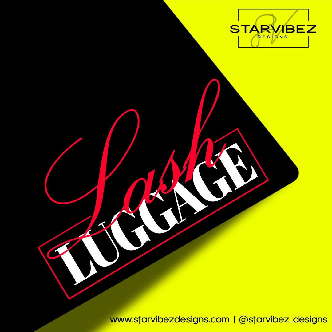 lash luggage logo mock up