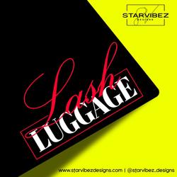 lash luggage logo mock up