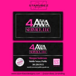 4A Service LLC Business Card Mock Up