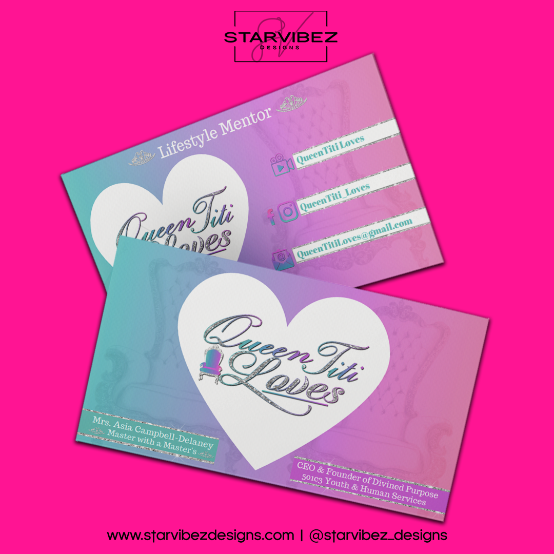 Queen Titi Loves Business Card Mock Up2.