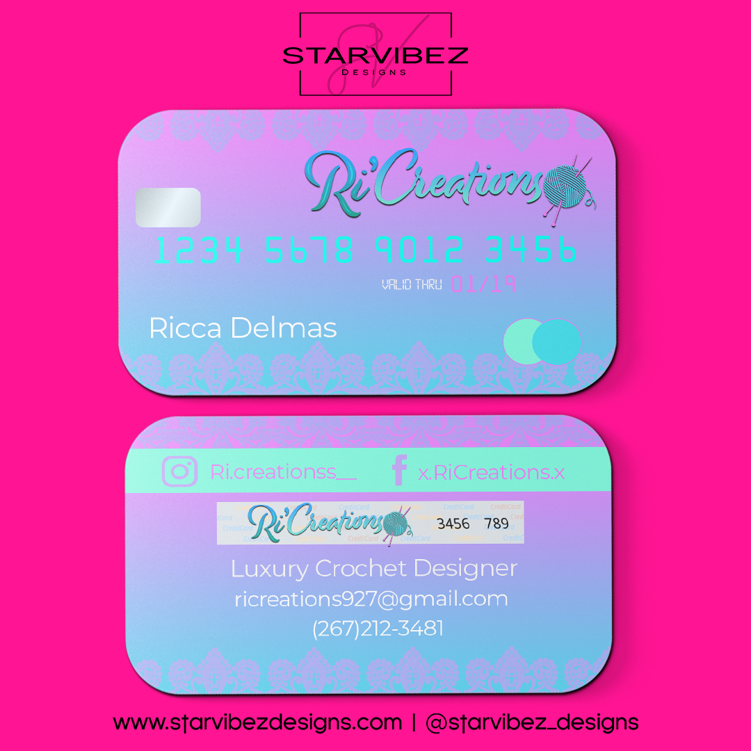RiCreations Business Card Mock Up4