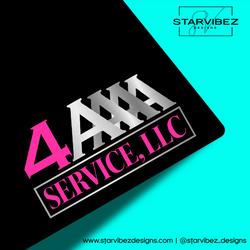 4A Service, LLC Logo Mock Up