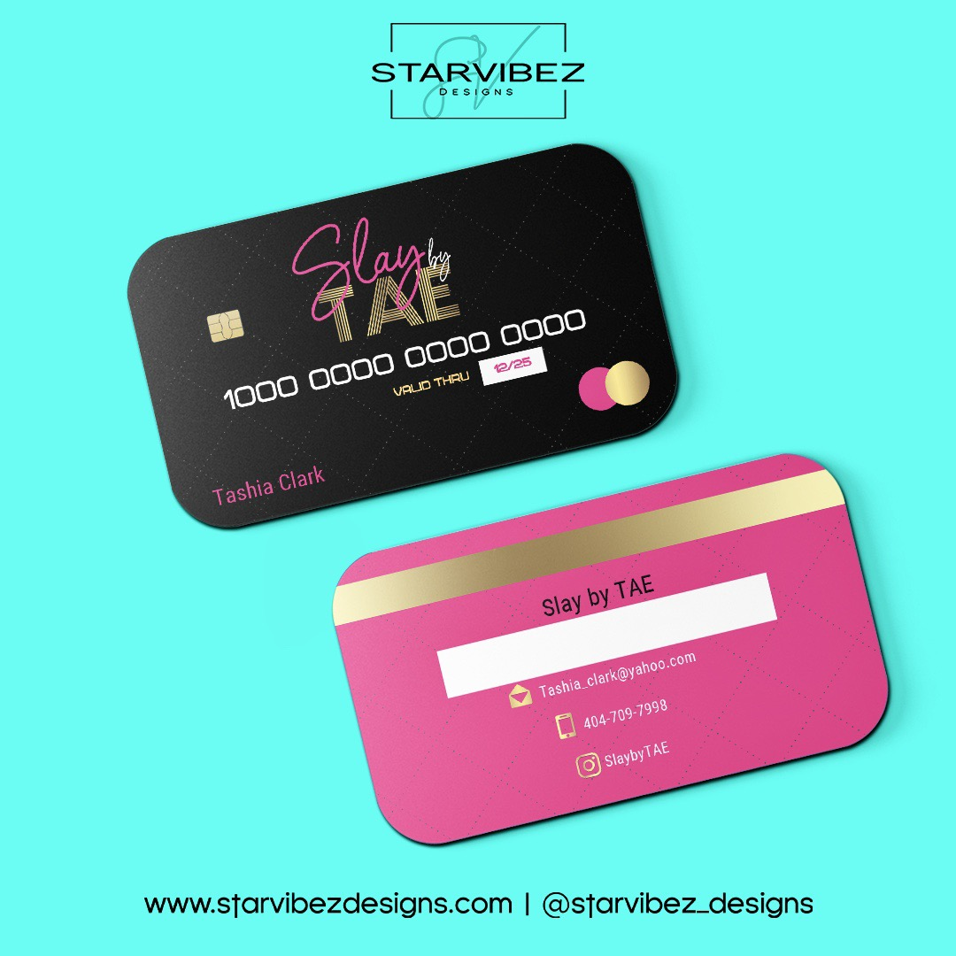 slaybytae business card mock up