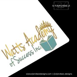 Watts Academy of Success Inc  Logo Mock