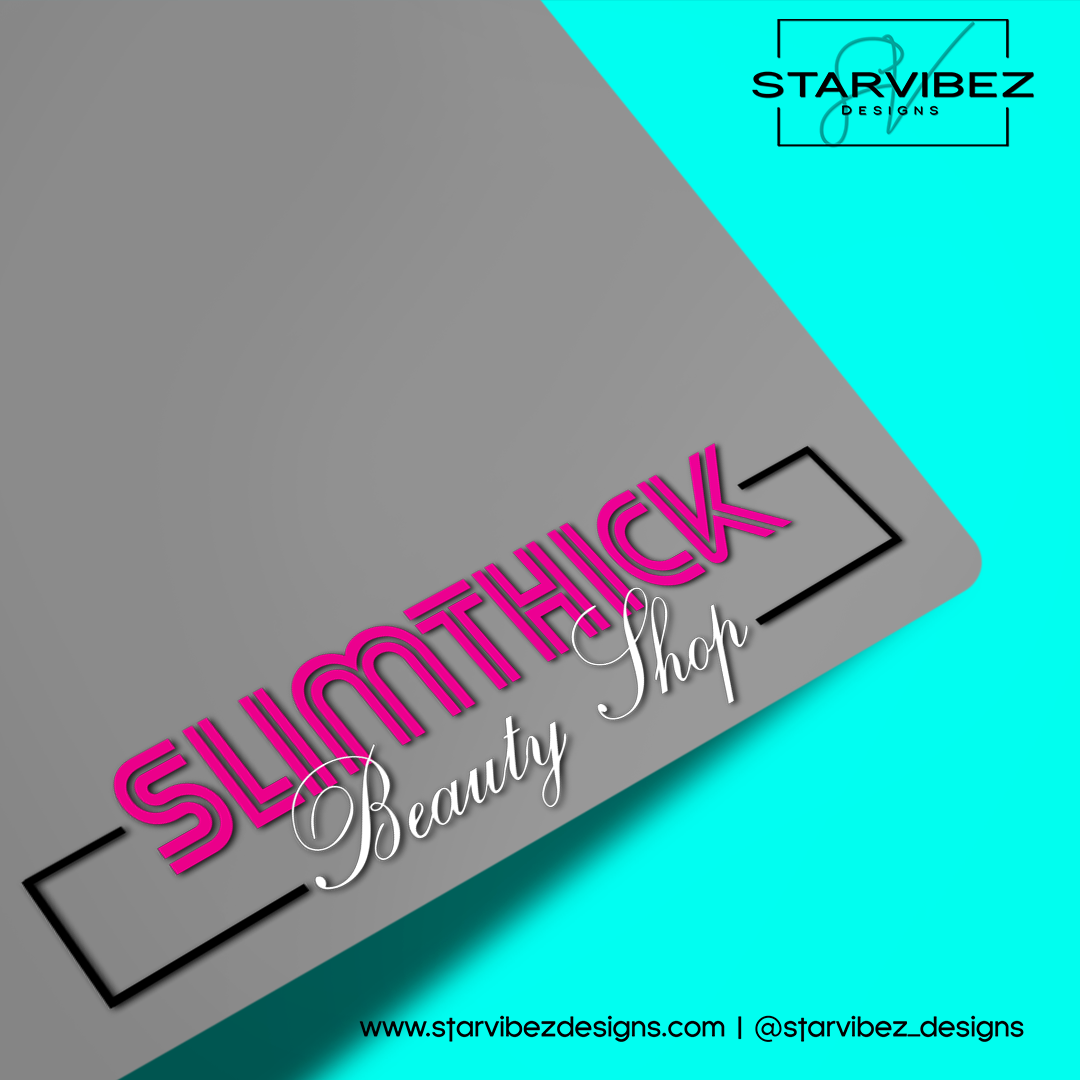 Slim Thick Beauty Shop Logo Mock Up2