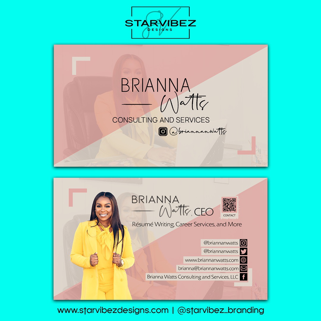 brianna watts business cards mock up