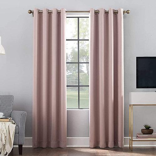 """Sun Zero Oslo Curtain Panel, 52""""x84"""", Blush Pink"""