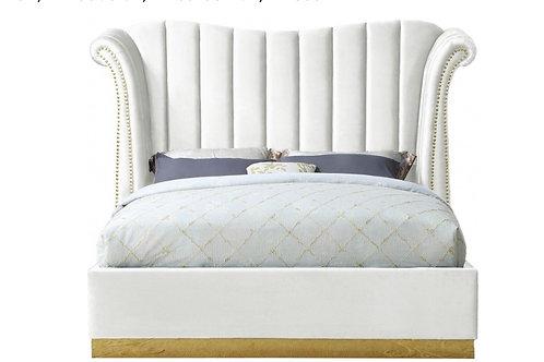 Flora Velvet Bed (Queen)