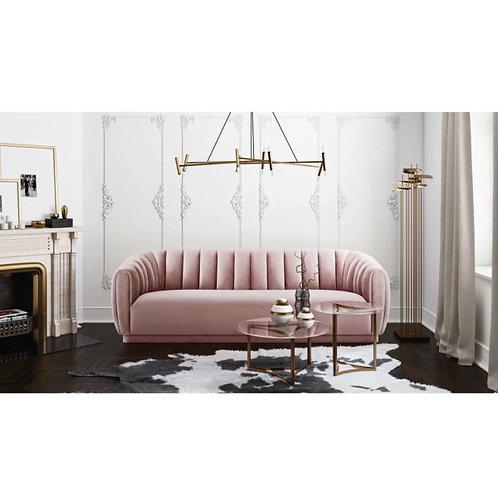 Arno Blush Velvet Sofa