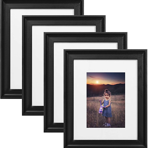 Upsimples Home 8x10 Picture Frame, Real Glass and Composite Wood for Wall or Tab