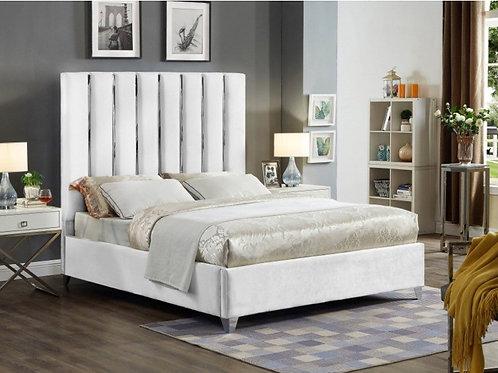 Enzo Velvet Bed (King)