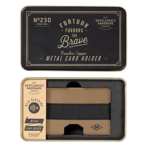 Gentlemen's Hardware Credit Card Holder | Metal |Slim