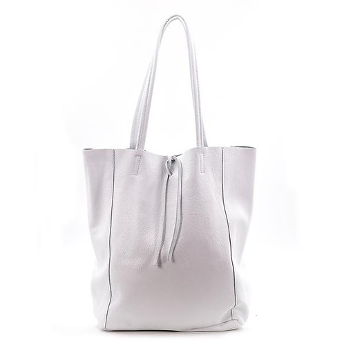 Leather Tote Bag DOVE GREY