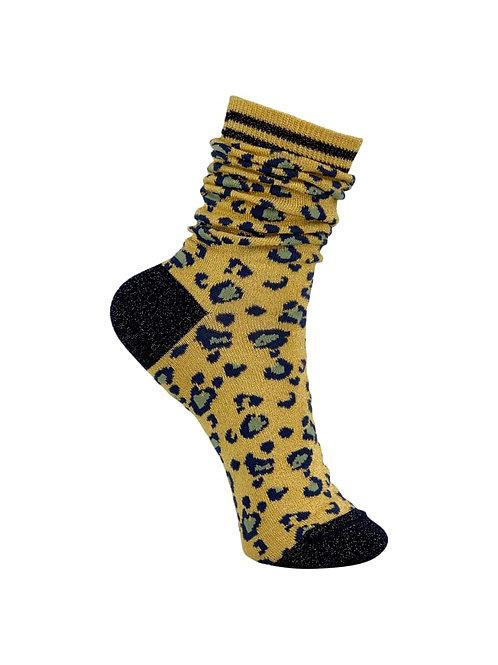 BLACK COLOUR - Leo sock yellow