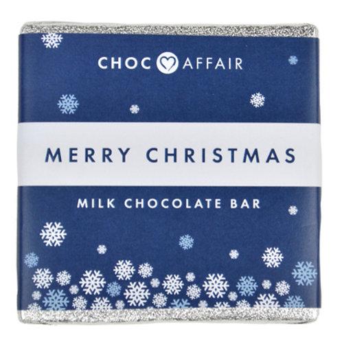 Choc affair- Merry Christmas Milk Chocolate Bar