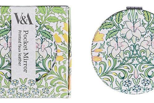 V&A Garden Print Compact Mirror