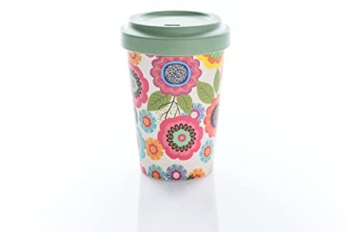 Bamboo Cup Flower Power 400ml