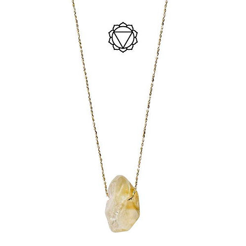 Necklace : Solar Plexus Chakra : Gold Plated : Citrine PILGRIM