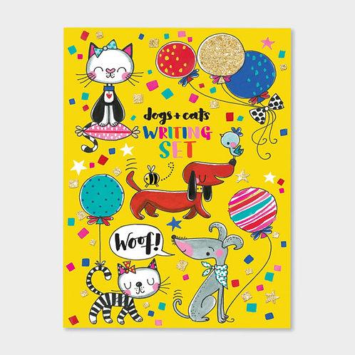 Rachel Ellen Cats And Dogs Writing Set Wallet