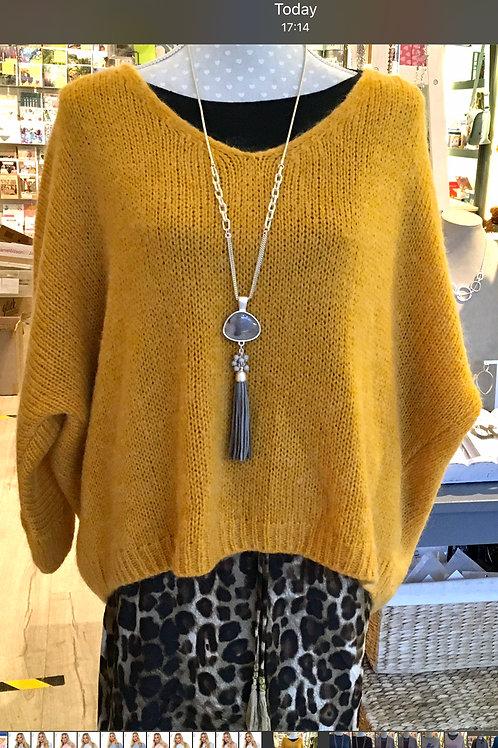 Chunky Knit Sweater  - Mustard