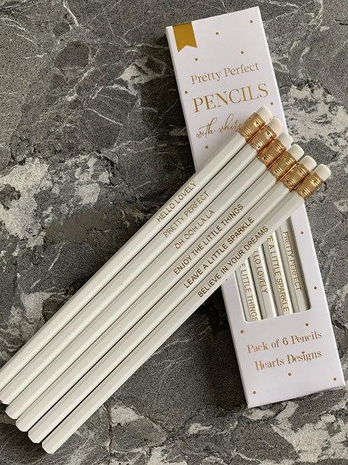 Hearts Designs -Pretty Pencils