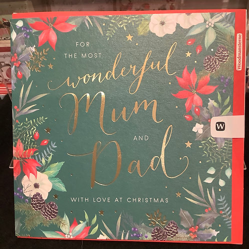 For the most wonderful  Mum and Dad with love at Christmas