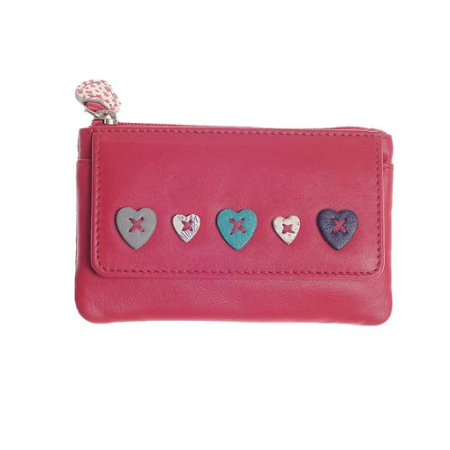 Lucy Coin Purse in Raspberry RFID protected