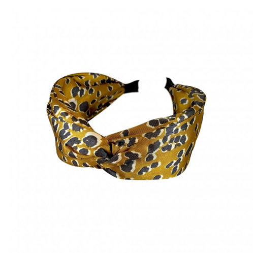 LEO mustard satin headband