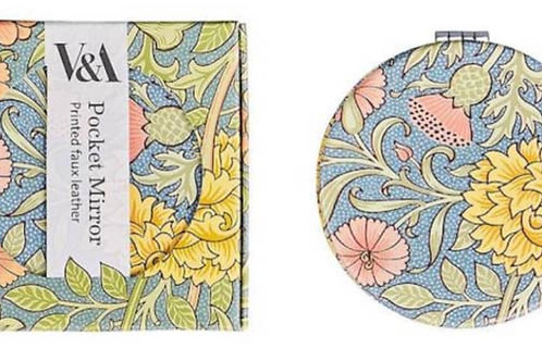 V&A Double Bough Print Compact Mirror