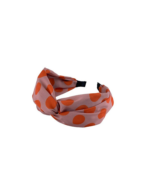 BLACK COLOUR - Headband dots rose/orange