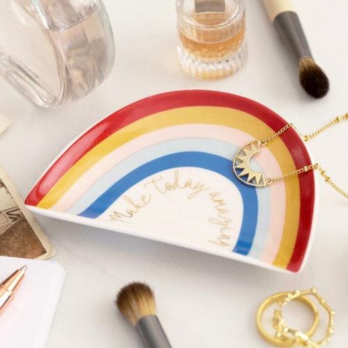 Make Today Amazing' Rainbow Trinket Dish