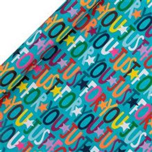 Glick Roll Wrap - Happy Birthday Teal