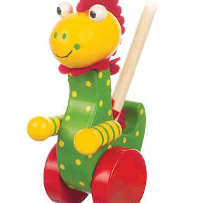 Orange Tree Toys - Dinosaur Push Along