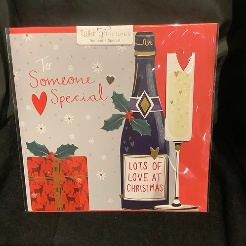 To someone special lots of love at Christmas