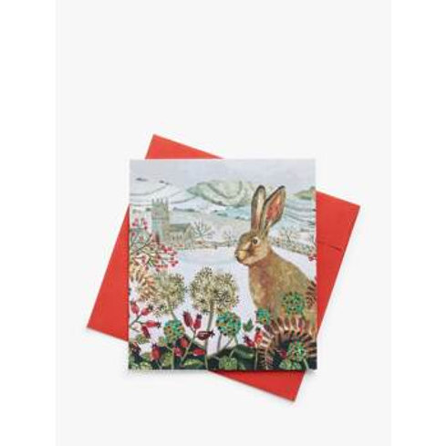 Pack of 5 White Christmas Charity Christmas Cards