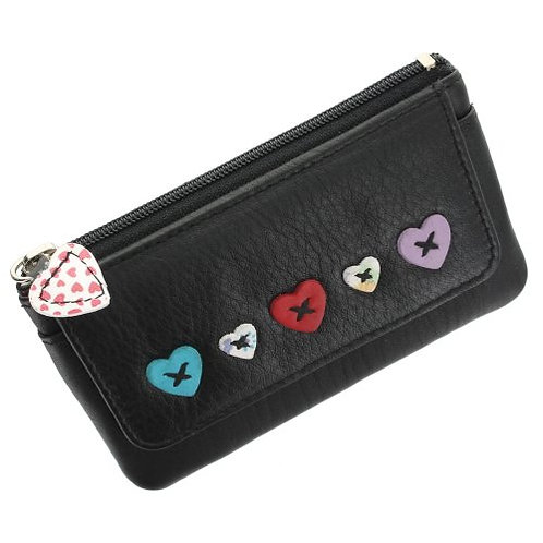 Lucy Coin Purse in Black RFID protected