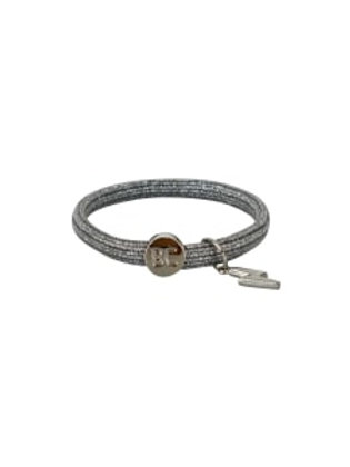 BLACK COLOUR - Poppy 2-in-1 elastic band Silver