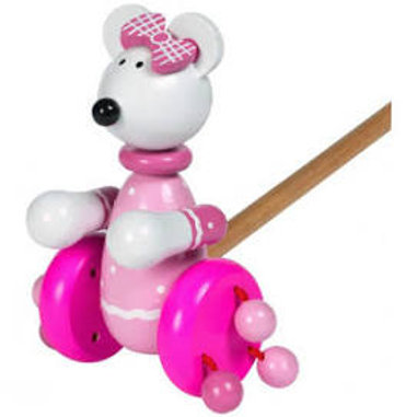 Orange Tree Toys - Pink Mouse Push Along