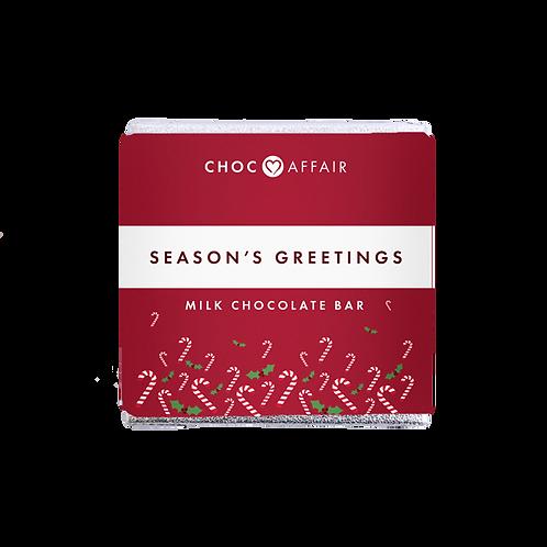 Choc affair - Season's Greetings Milk Chocolate Bar