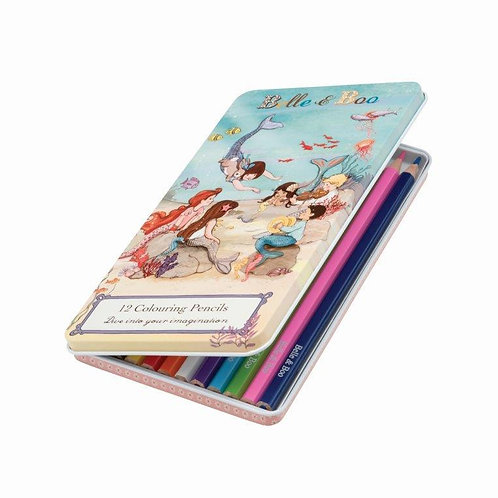 Belle & Boo - Mermaid Colouring Pencils in a tin