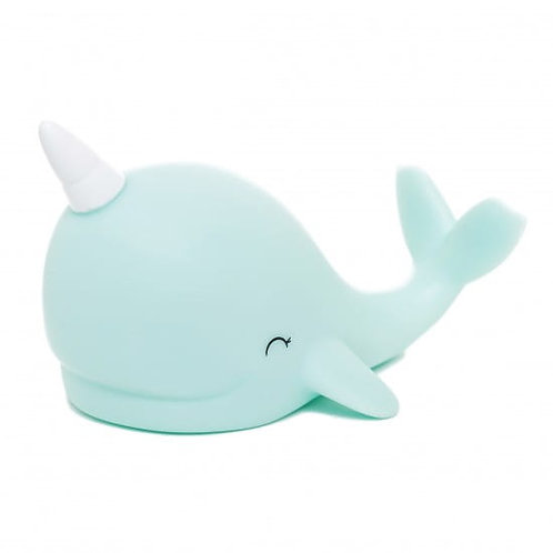 NARWHAL - LED NIGHT LIGHT | PASTEL SKY BLUE NARWHAL WITH SILV