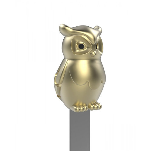METALMORPHOSE 3D METAL BOOKMARK | GOLD OWL