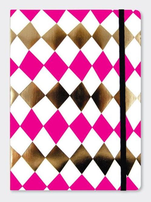 Rachel Ellen Pink Fizz Diamond Notebook