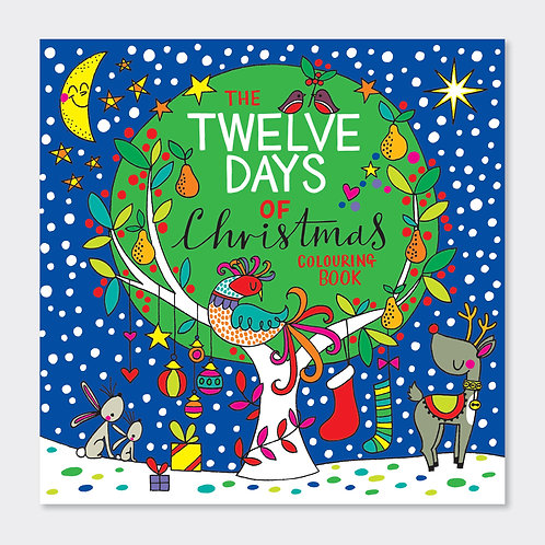 RACHEL ELLEN - SQUARE COLOURING BOOK – 12 DAYS OF CHRISTMAS