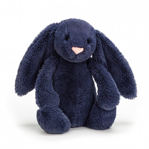 Jellycat - Medium Navy Bashful Bunny